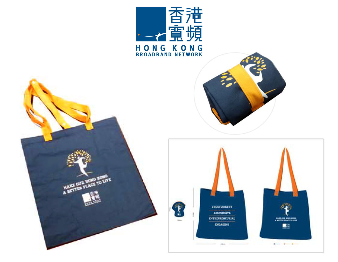 Hong Kong Broadband eco-Friendly Reusable Bag